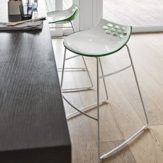 CS1033 Jam - Sgabello Calligaris in metallo, seduta in tecnopolimero, altezza seduta 65 cm