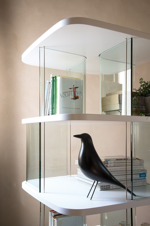 Fenice 6475a libreria tonin casa in vetro e mdf diverse for Case in vetro