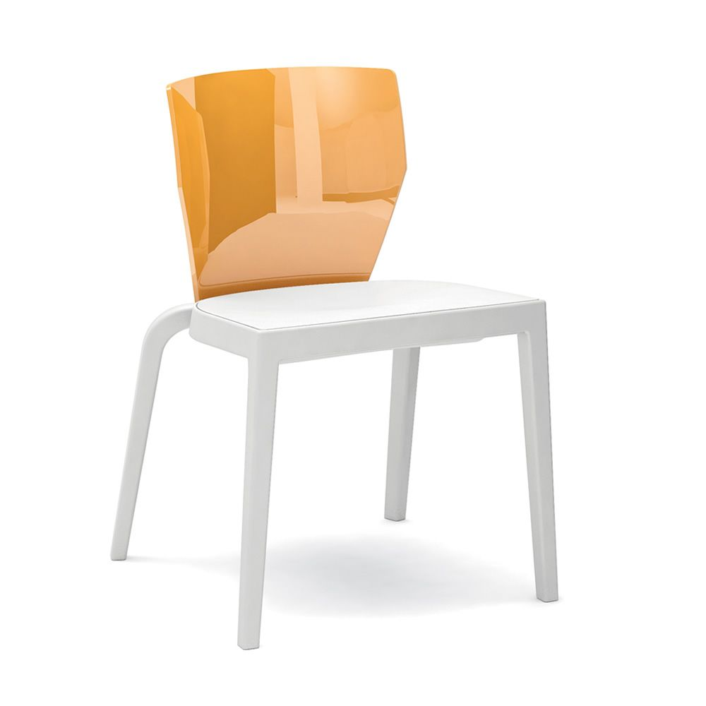 bi chaise empilable infiniti en polypropyl ne dossier en polycarbonate ou contreplaqu. Black Bedroom Furniture Sets. Home Design Ideas