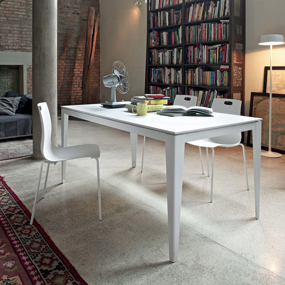 Denver tavolo allungabile 140 x 90 cm in metallo - Tavolo legno vetro allungabile ...