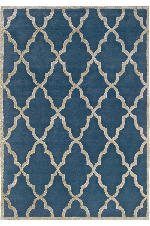 chantal blue designer teppich aus wolle bambus seide und. Black Bedroom Furniture Sets. Home Design Ideas