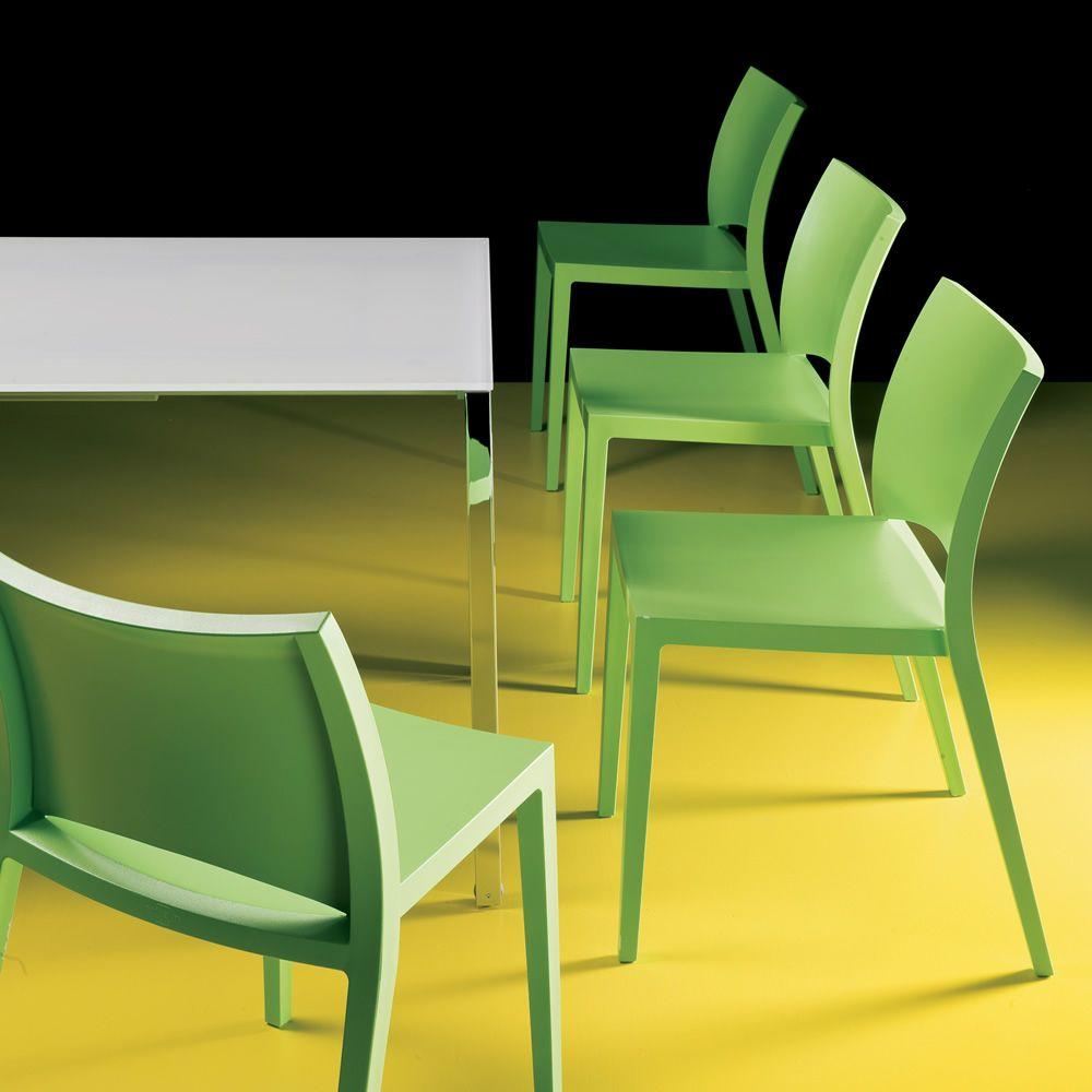 Aqua silla apilable bontempi casa en olipropileno - Sillas para casa ...