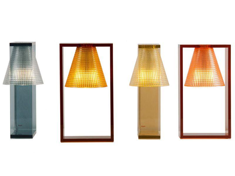 light air s tischlampe von kartell aus technopolymer in verschiedenen farben verf gbar. Black Bedroom Furniture Sets. Home Design Ideas
