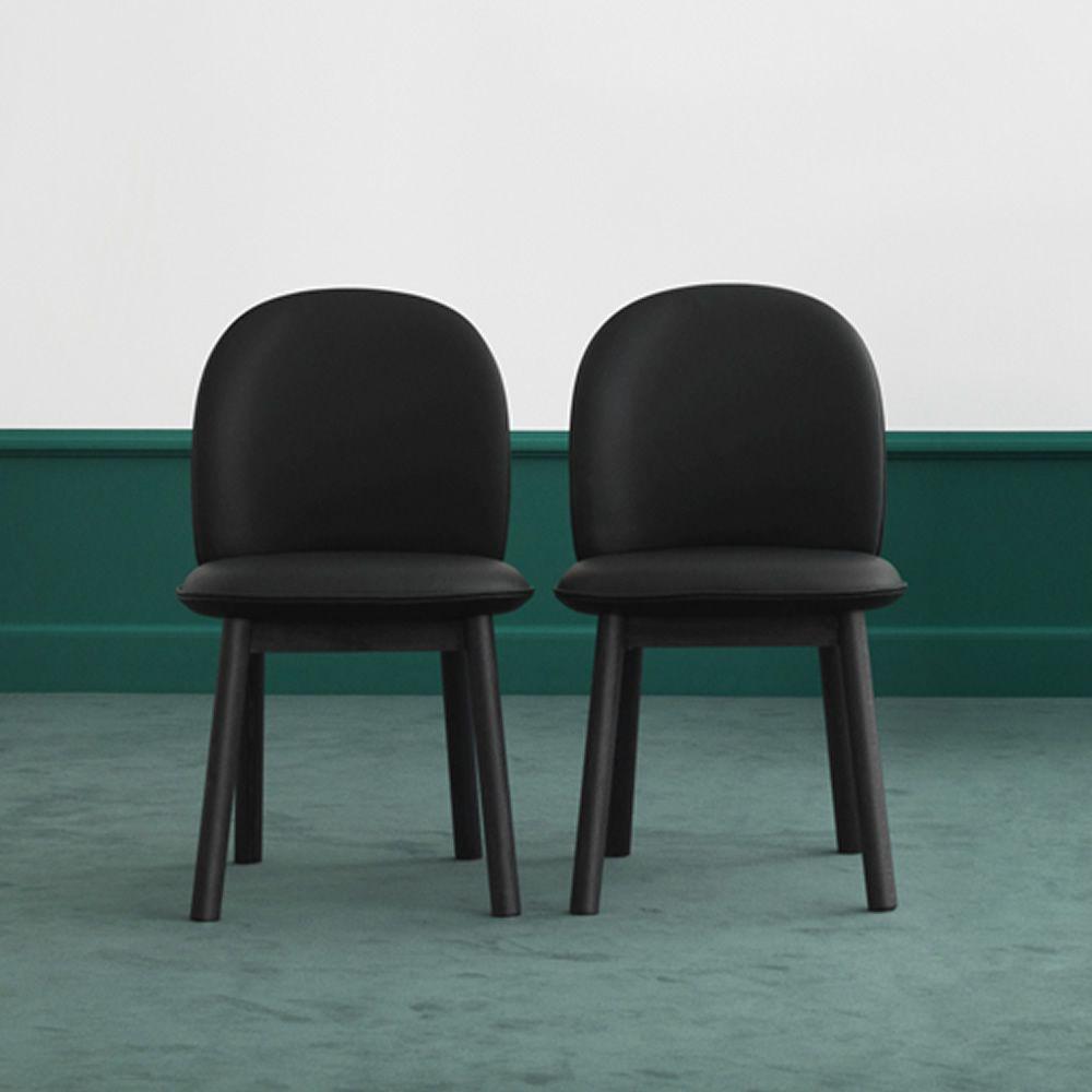 Ace sedia normann copenhagen in legno seduta imbottita for Sedie pelle e legno