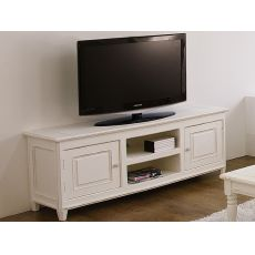 Egadi - Porta TV in legno, 145x45 cm, altura 60 cm