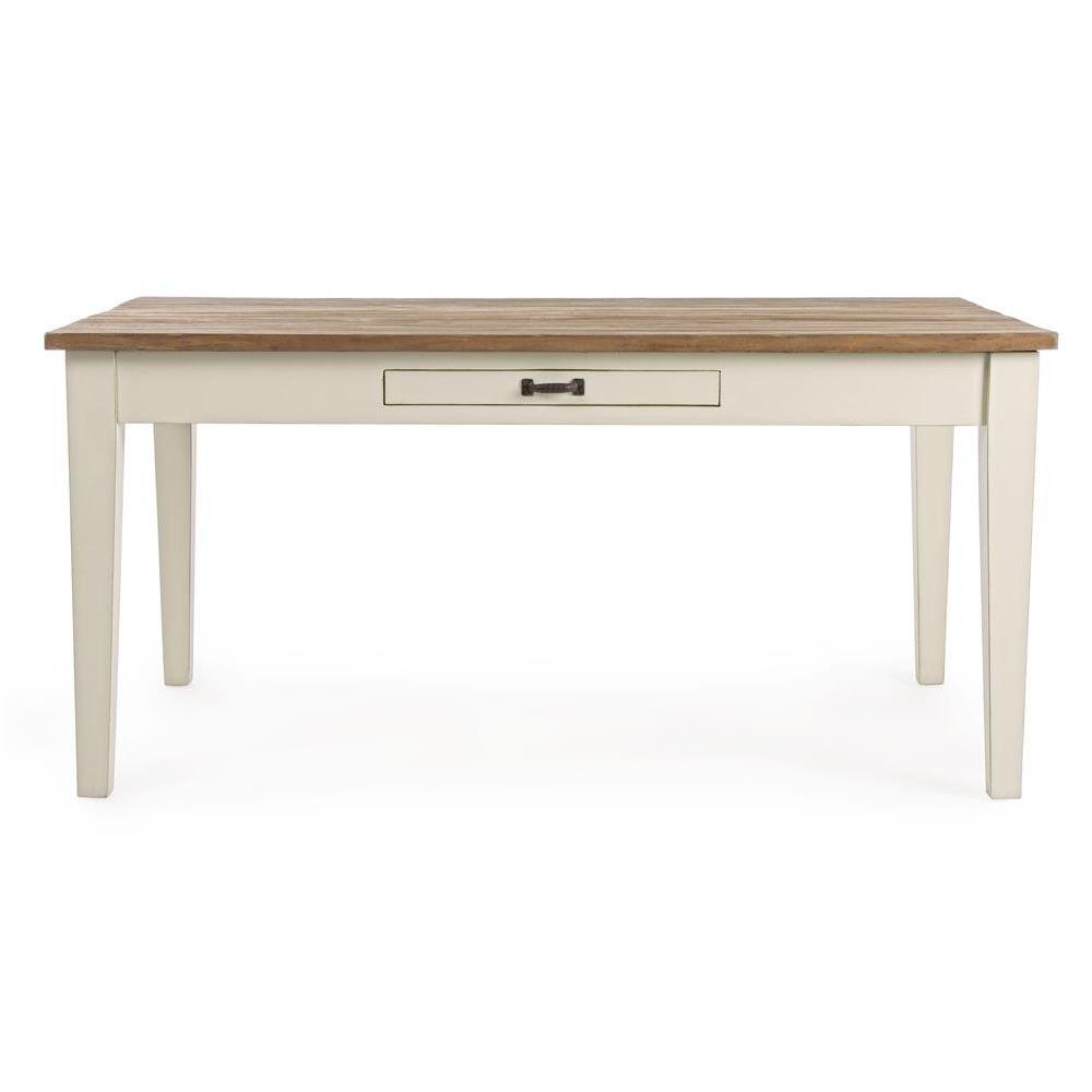 Johannesburg t tavolo shabby chic in legno indonesiano e teak fisso diverse misure - Costruire tavolo legno rustico ...