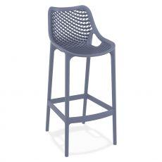 TT1049 - Sgabello impilabile per l'esterno di bar o ristoranti, in polipropilene e fibra di vetro, in diversi colori, altezza seduta 75 cm