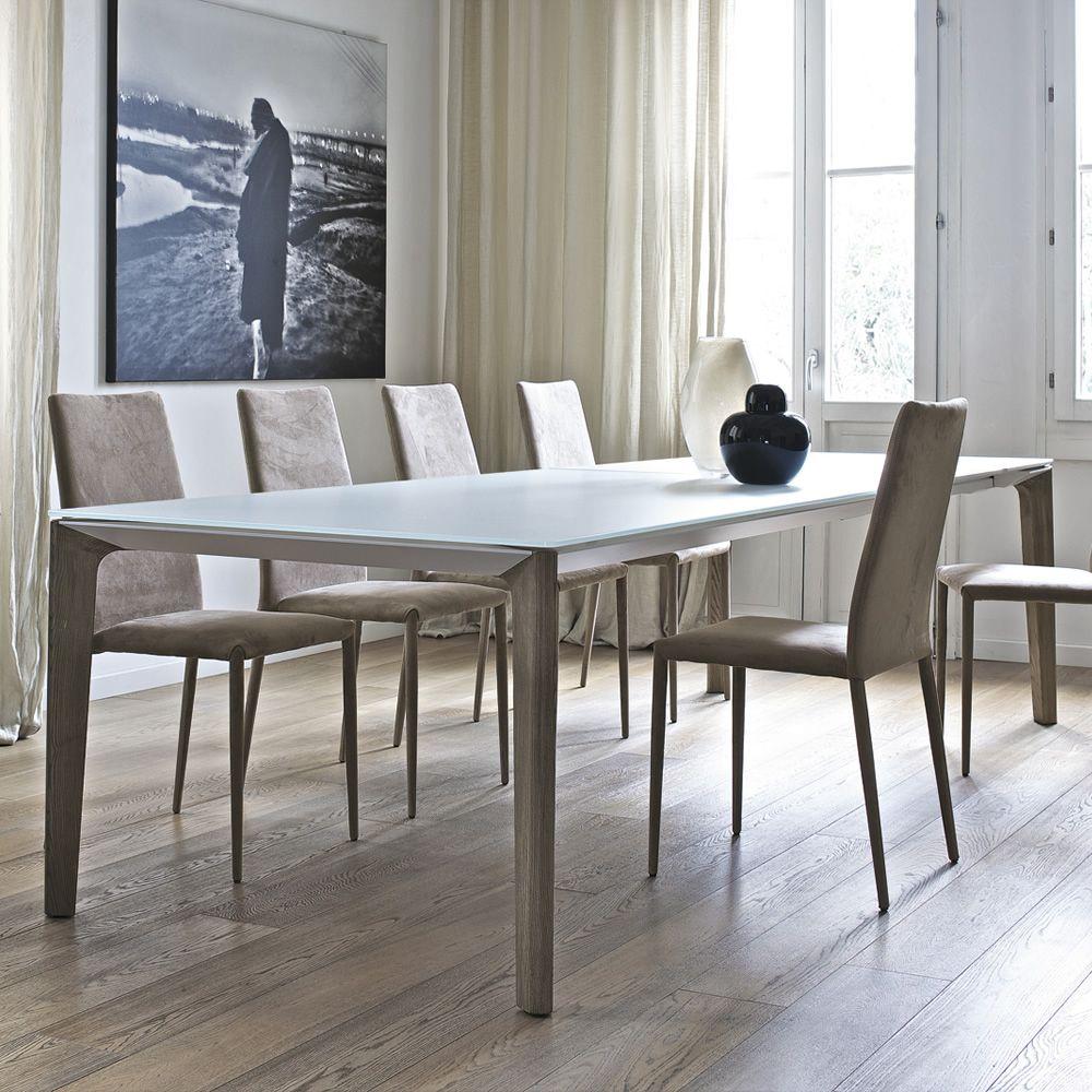 Versus ext tavolo di design di bontempi casa in legno for Tavoli di design in cristallo