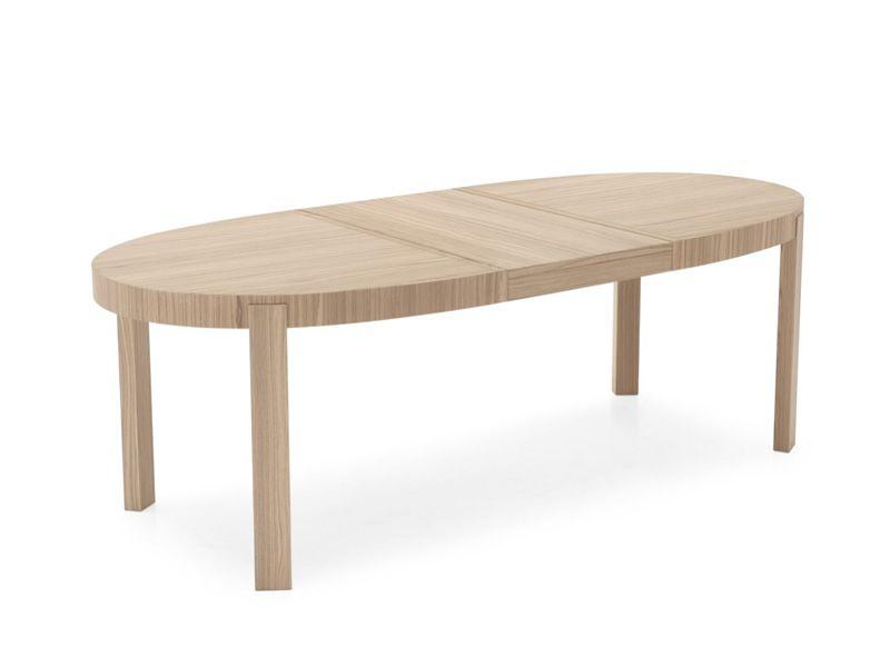 cb398 e atelier tisch connubia calligaris aus holz ovale platte 170 x 100 cm verl ngerbar. Black Bedroom Furniture Sets. Home Design Ideas