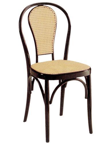 Se21bis sedia viennese in legno diverse tinte for Sedia design paglia di vienna