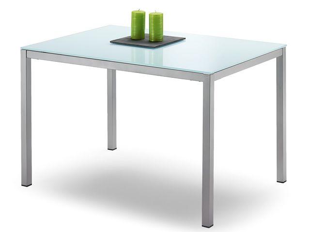 Full mesa de aluminio domitalia tapa de cristal o - Estructura metalica mesa ...