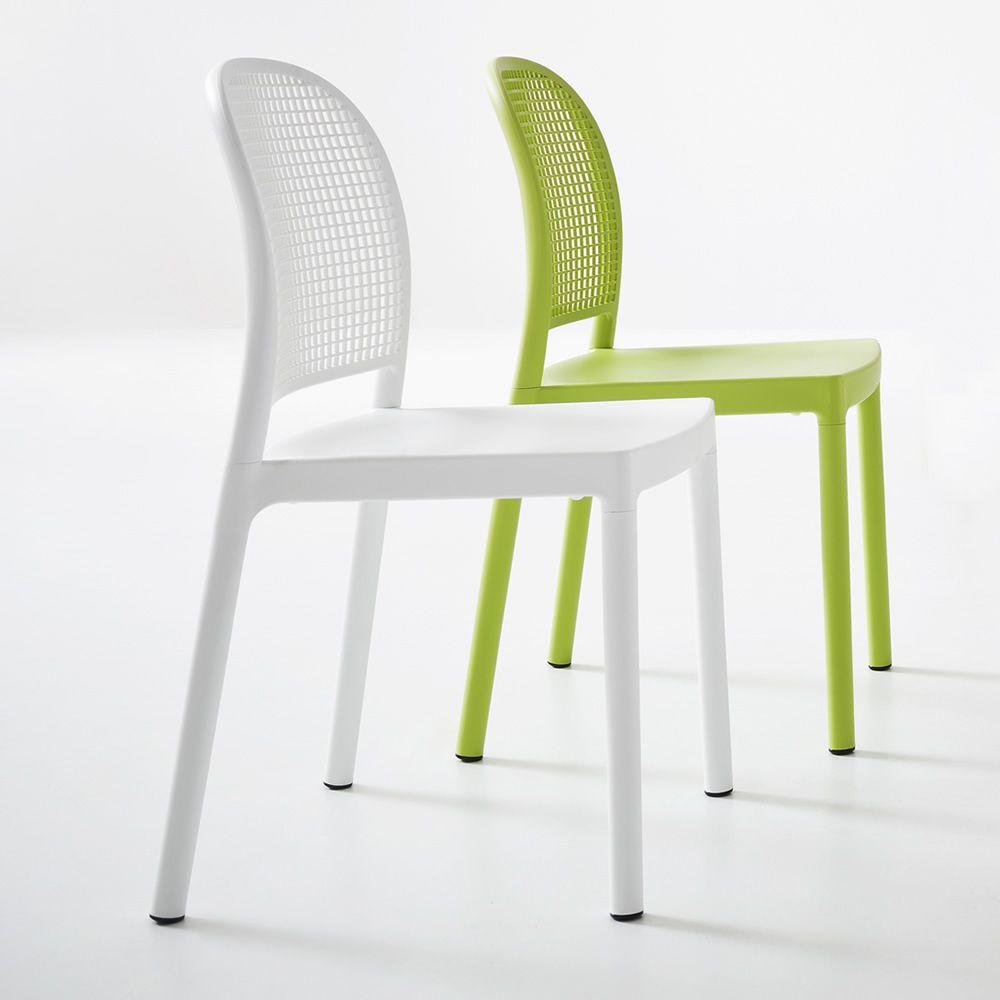 Panama Moderner Stapelstuhl aus Technopolymer mit oder