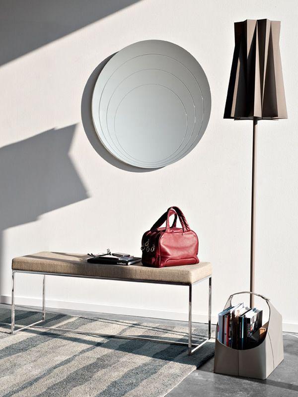 cb5074 lune moderner runder spiegel connubia calligaris sediarreda. Black Bedroom Furniture Sets. Home Design Ideas