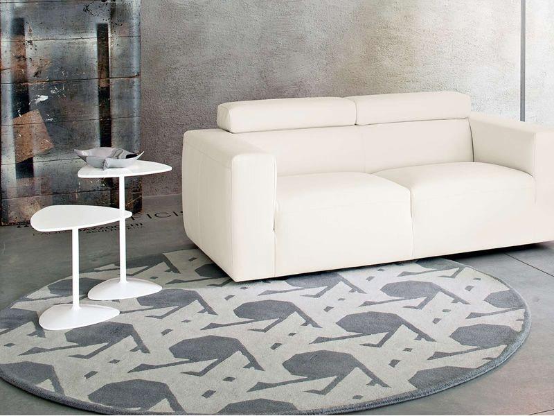 7102 lienz alfombra de lana calligaris redonda di metro for Alfombra redonda gris