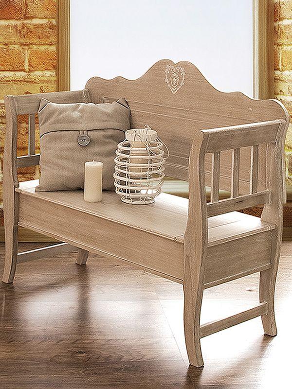 Augusta panca in legno con seduta a ribalta in diversi for Cassapanca con seduta