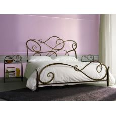 Aura - Double bed in wrought-iron, several colours available