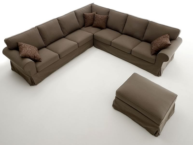 Alba corner divano classico ad angolo 287x287 cm sfoderabile sediarreda - Misure divano ad angolo ...