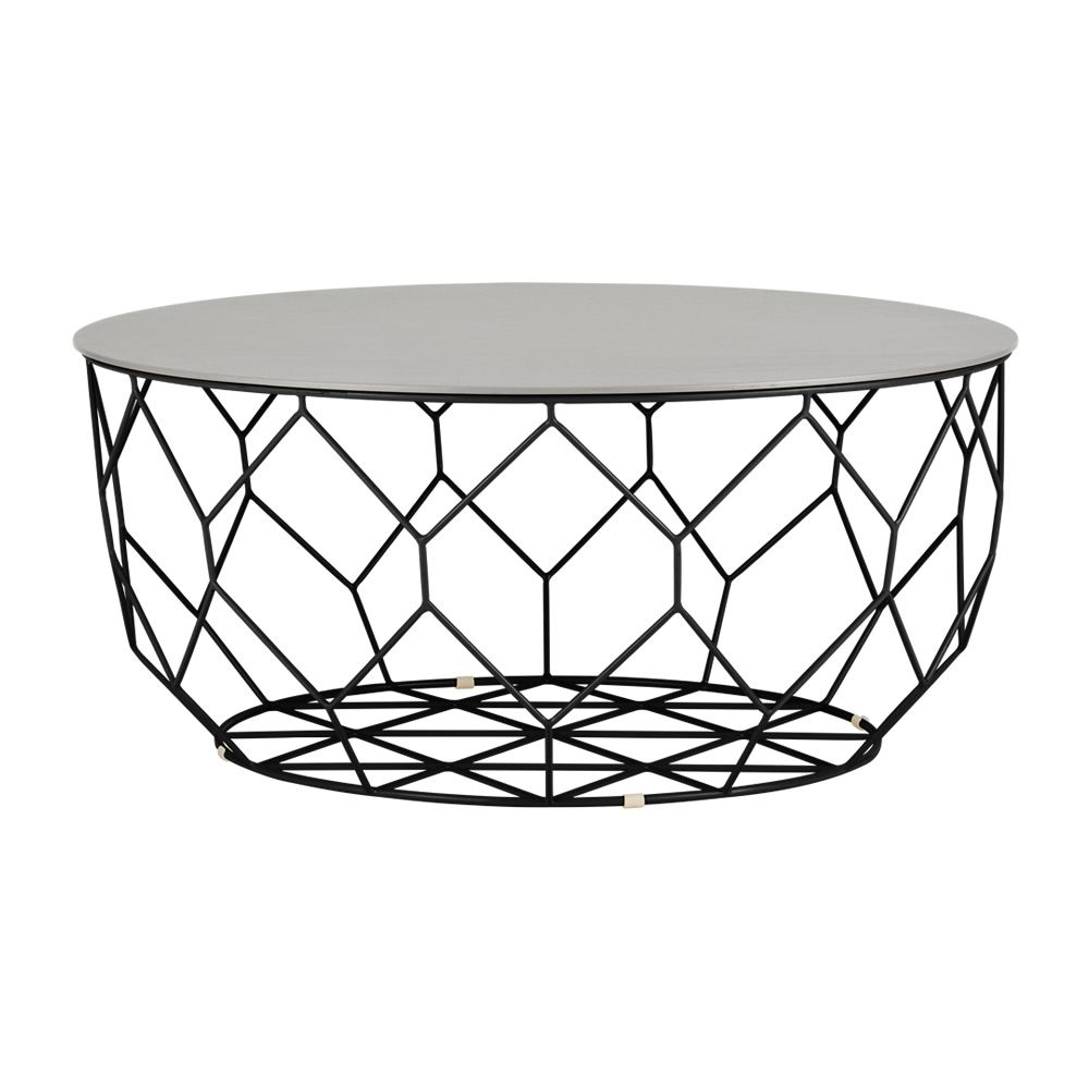 comb beistelltisch aus metall holzplatte mit beh lter. Black Bedroom Furniture Sets. Home Design Ideas