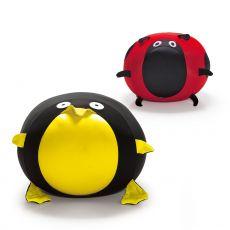 Animals - Pouf für Kinder in Tierform, mit abziehbarem Bezug, verschiedene Modelle verfügbar
