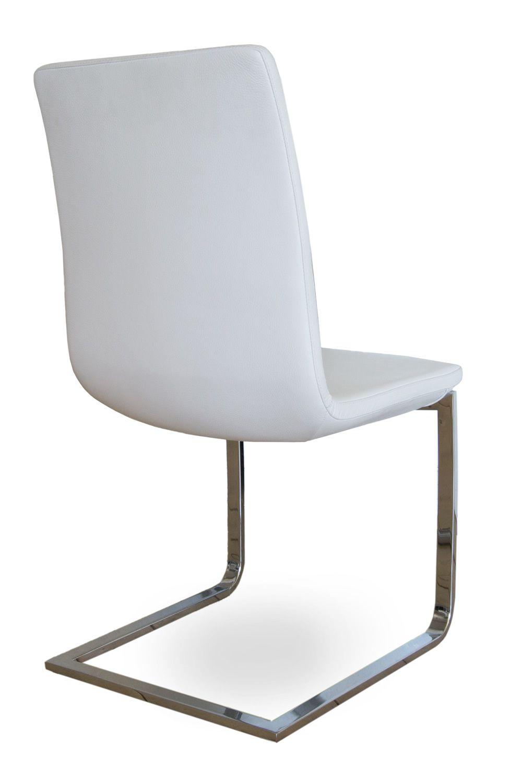 Breeze sedia design di tonon struttura a slitta in for Sedia design bianca