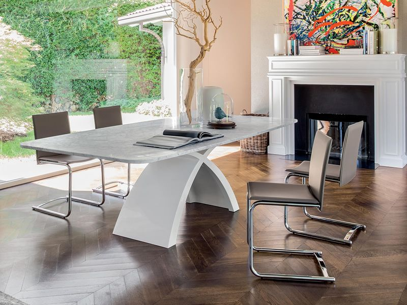 Tokyo l 6951 tavolo fisso tonin casa in agglomerato di for Tavolo marmo design