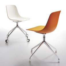 Pure Loop Binuance R - Infiniti swivel chair in metal and polypropylene, also with wheels, different colours and sizes