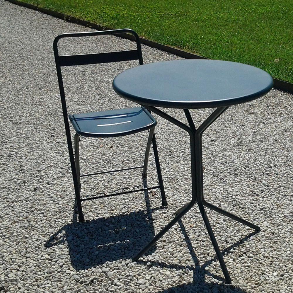 rig83 pour bars et restaurants table ronde en m tal diam tre 60 cm en diff rentes couleurs. Black Bedroom Furniture Sets. Home Design Ideas