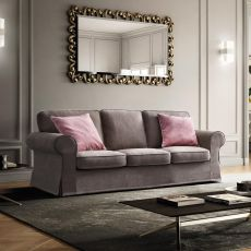 Alba - 2 seaters, 2XL seaters or 3 seaters classic sofa, with removable cover