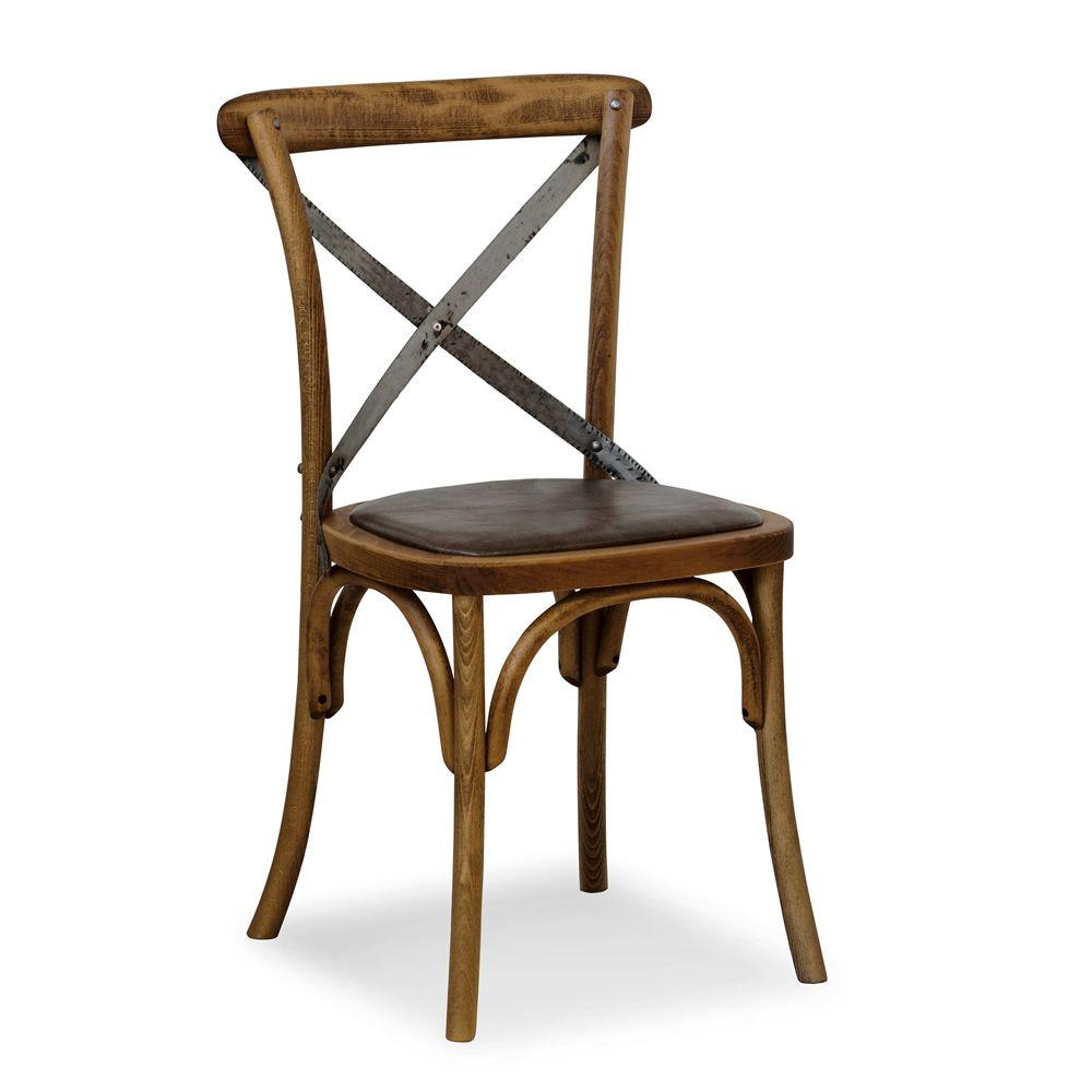 Se06 sedia viennese in legno con schienale incrociato in for Sedie da design