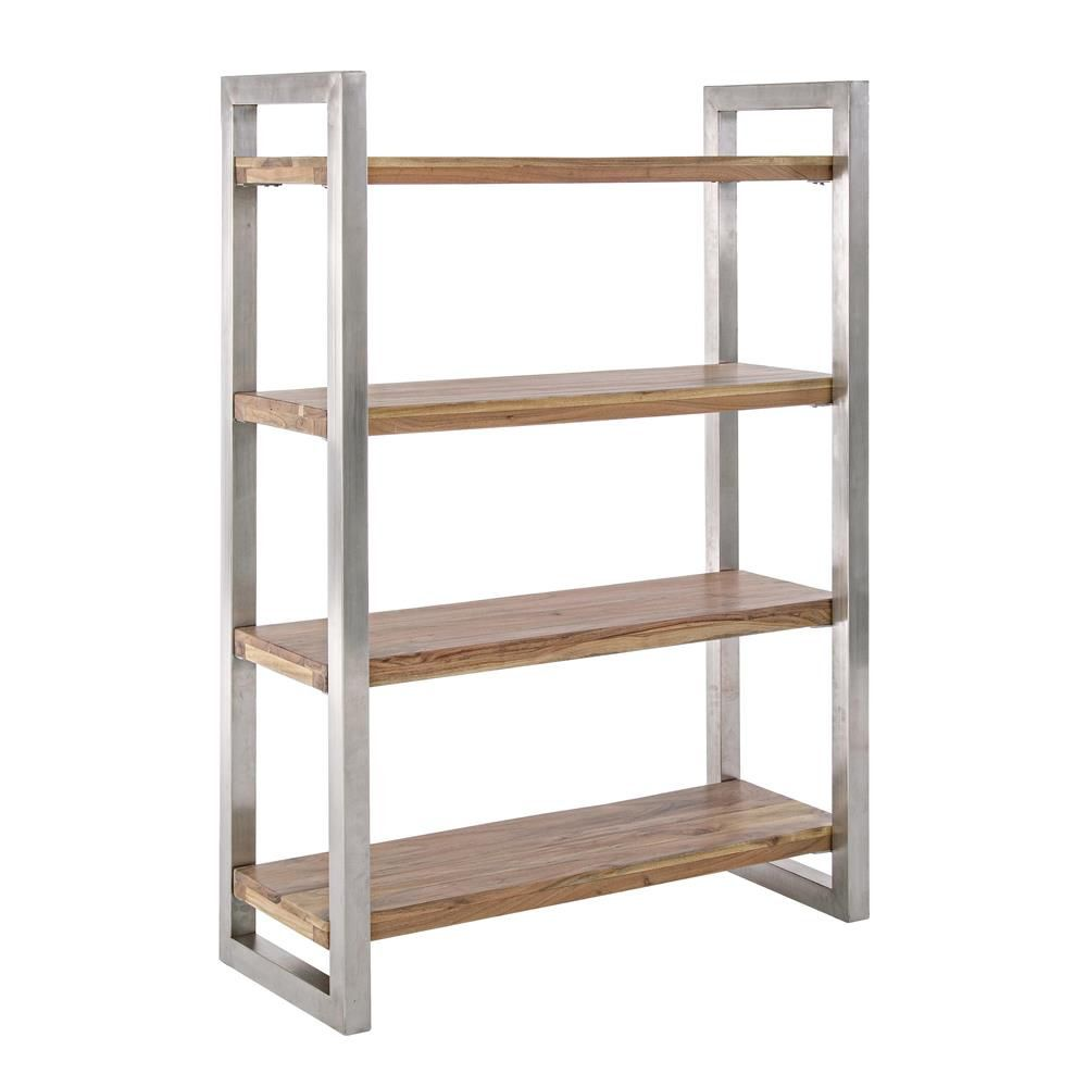 Timboct Shelf Tag Re Ou Biblioth Que En M Tal Avec Tablettes En  # Plan Etagere En Bois