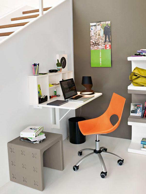 Cs4061 spacebox tavolo pieghevole a muro in nobilitato bianco ottico opaco abbinato a sedia - Tavolo da muro pieghevole ...