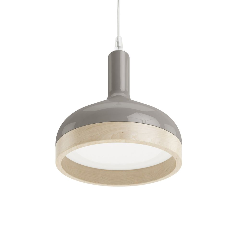Plera lampe suspension en c ramique et en bois for Lampe suspension