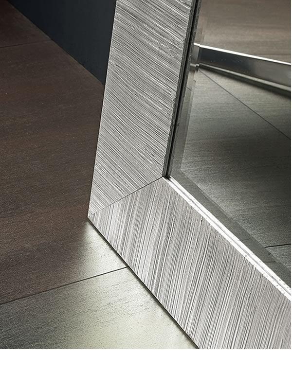 Flat s d tail du cadre en bois d cor d 39 une feuille for Miroir 70x170