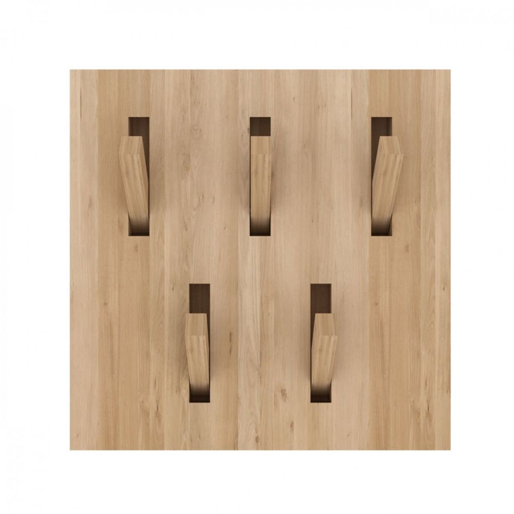 Utilitle h perchero de pared ethnicraft de madera con for Ganchos de pared adhesivos