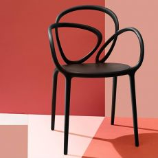 Loop Chair   Qeeboo Designer Stuhl, Aus Polypropylen, Stapelbar