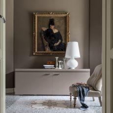 6107 Goya | Madia laccata di Tonin Casa con ante complanari, diversi colori, 220x55 cm