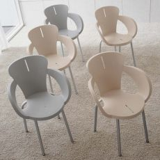 Lolita - Midj stackable armchair made of metal and polypropylen, different colours available, also for outdoor