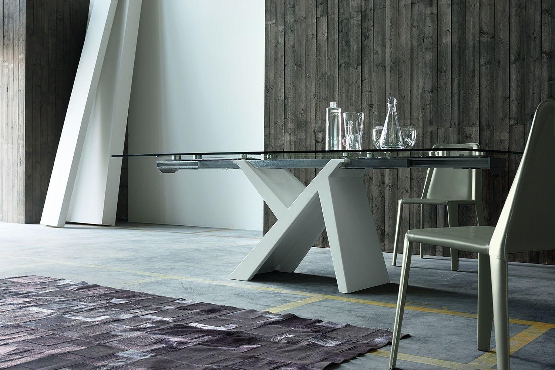 Akille tavolo di design in legno fisso o allungabile for Tavolo eclipse legno di ozzio design