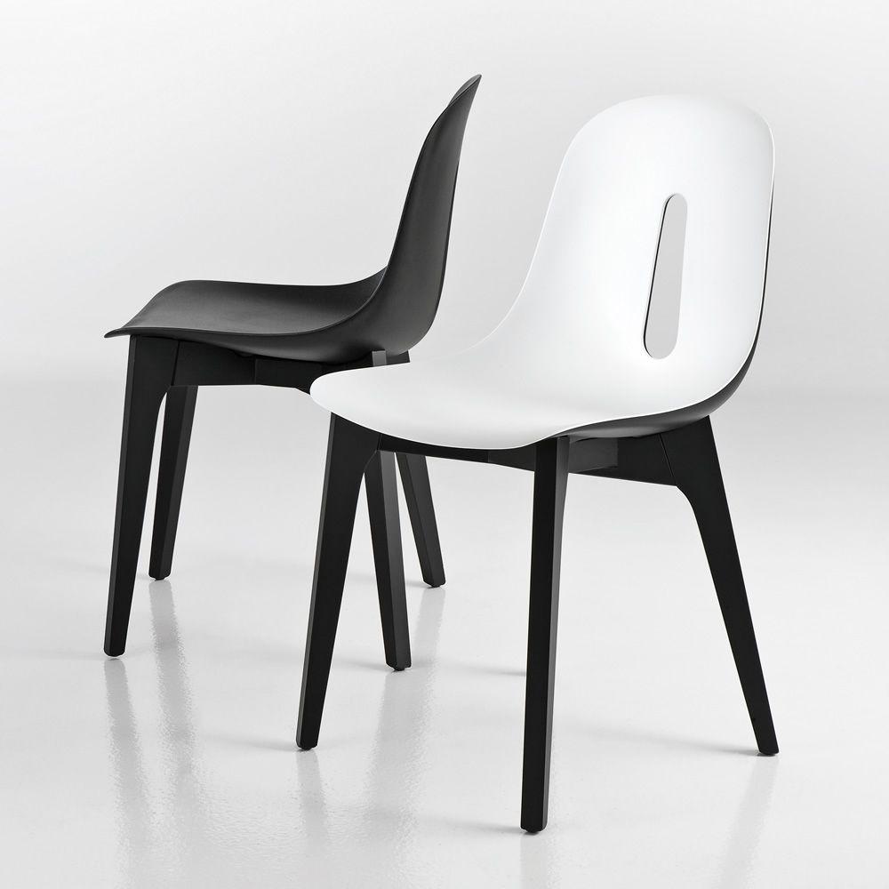 Gotham Wood - Sedia di design Chairs&More, in legno e poliuretano, dispon...