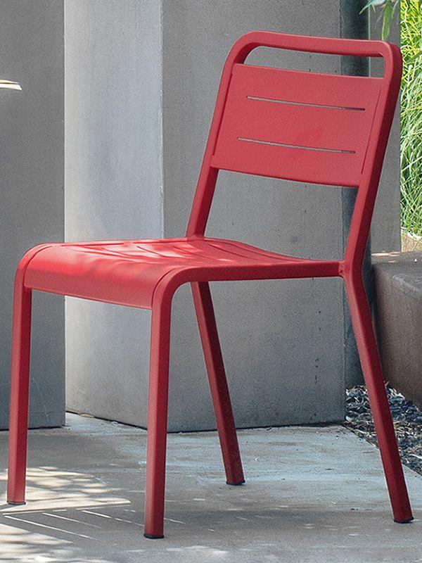 Urban: Chaise Emu en aluminium, empilable pour jardin, différentes ...
