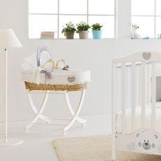 Baby Baby MB - Cesta portabebés con capota y base en madera