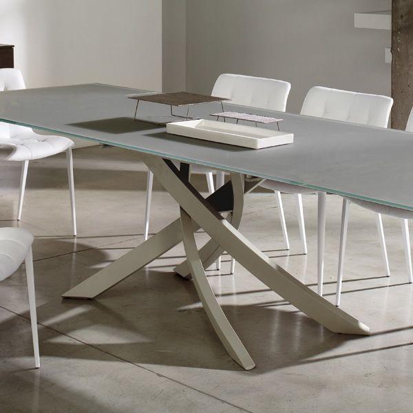 Artistico glass tavolo di design di bontempi casa fisso for Glass tavoli cristallo
