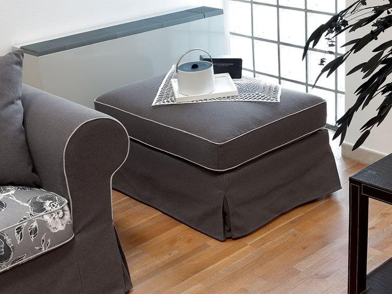 Alba corner divano classico ad angolo 287x287 cm for Divano con pouf
