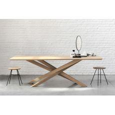 Mikado - Tavolo fisso di design Ethnicraft in legno, piano 240 x 100 cm
