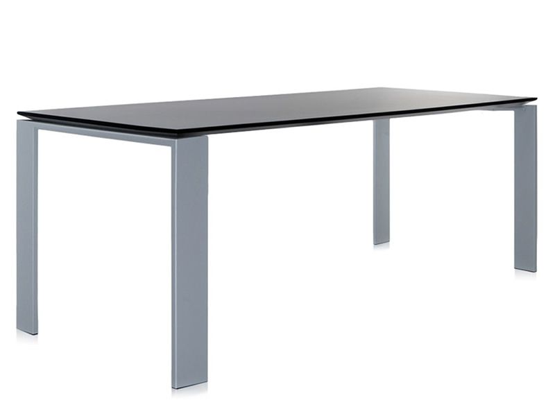 Four Soft Touch: Design Kartell Table, In Steel And Laminated Wood