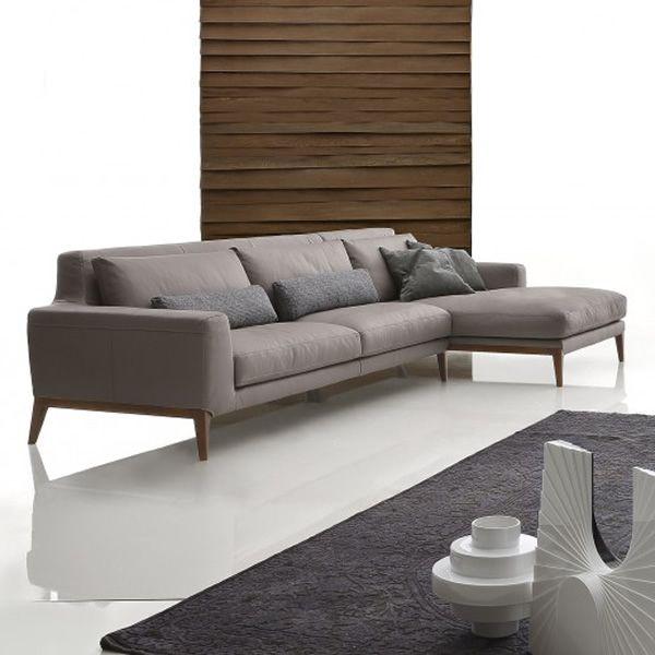 Spice chaise divano con chaise longue a 2 3 o 3 posti for Divani moderni con chaise longue