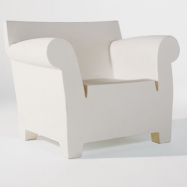 Bubble Club Armchair   Kartell Design Armchair For Gardens, White Zinc  Polythylene