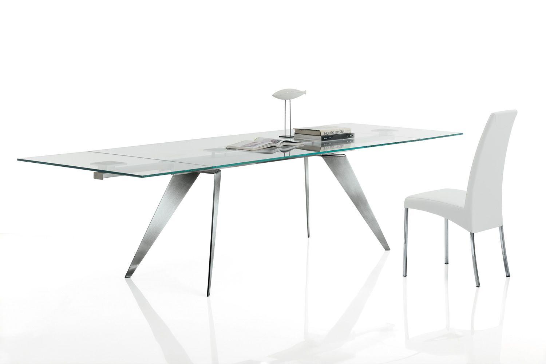 Ramos ext tavolo di design di bontempi casa in metallo - Casa in acciaio e vetro ...