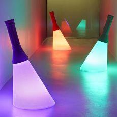 Flash - Lampada da tavolo Qeeboo a forma di torcia, in polietilene, LED, ricaricabile, anche per esterno