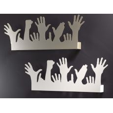 People - Coat rack for wall, made of iron, available in several colours